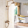 Classical Brass Vintage Cross Handle Exposed Shower Faucets