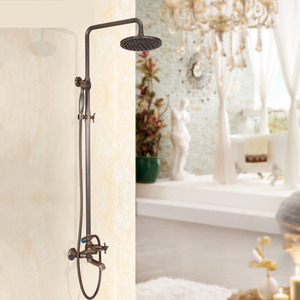 Custom Antique Bronze Two Handle Exposed Shower Faucets System