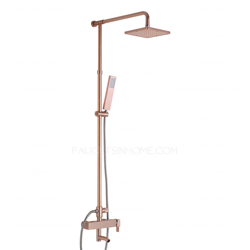 Modern Champagne Gold Head And Shower Faucets System