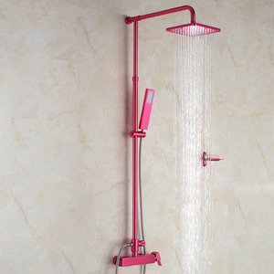 Fashionable Hot Pink Elevating Outdoor Rain Shower Faucet