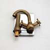 Vintage Heightening Antique Brass Bathroom Faucet Vessel Mount