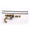 Single Hole Antique Brass Porcelain Handle Bathroom Faucets