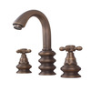 Top Rated Antique Bronze Three Hole Wide Spread Bathroom Faucets