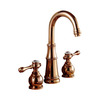Best Rose Gold Three Hole Vintage Bathroom Sink Faucets