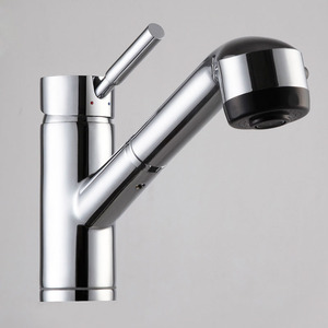 Designer Brass Pullout Spray One Hole Kitchen Faucets