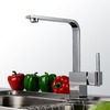 Seven Shaped Brass Single Hole Sink Faucet For Kitchen
