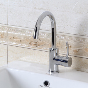 Quality Chrome Single Hole High Arc Kitchen Faucets