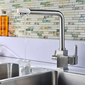 High End Brass Drinking Water Dual Kitchen Faucets