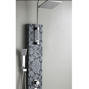 High End Stainless Steel Black Shower Faucet Screen