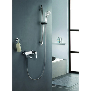 Inexpensive Brass Wall Mount Shower Faucet System For Bathroom