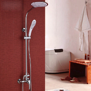 Designer Brass Elevating Outdoor Shower Faucets System