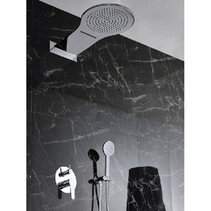 High End Concealed Wall Mounted Brass Rain Shower Faucets System