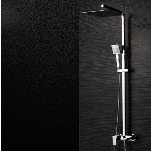 Modern Slim Square Shaped Brass Shower Faucet System