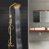 Antique Brass Exposed Rotatable Top Shower Faucet System