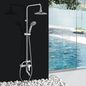 Best Brass Rain Top Exposed Shower Faucet System