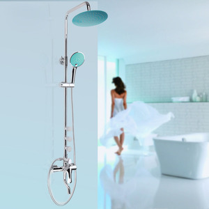 Designer Brass Blue Top Shower Heads And Faucets System