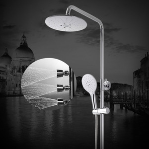 Fashion White Brass Top Shower Head And Faucet System