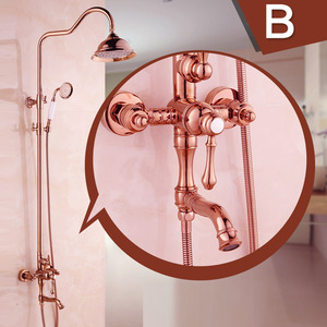 Best Rose Gold Brass Bathroom Outdoor Shower Faucets
