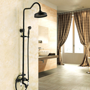 Designer Oil Rubbed Bronze Ceramic Bathroom Shower Faucets