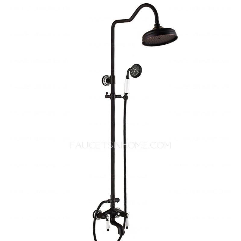 Designer Oil Rubbed Bronze Black Bathroom Shower Faucets
