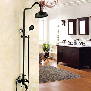 Designer Oil Rubbed Bronze Black Bathroom Shower Faucets