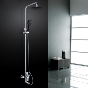 Good Exposed Brass Black Shower Faucet With Hand Shower