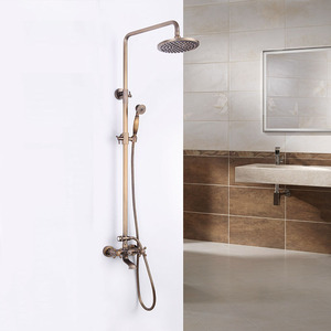 Antique Bronze 2 Handle Brass Outdoor Shower Faucets
