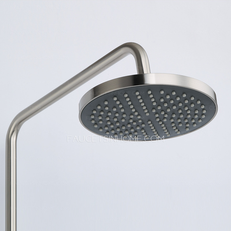 modern brass brushed nickel outside shower heads and faucets