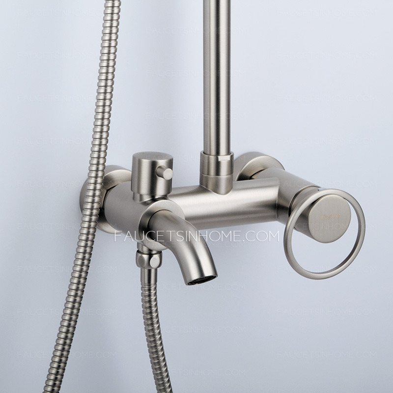 Brass Brushed Nickel Outside Shower Heads And Faucets