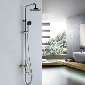 Classical Brass Nickel Brushed Bathroom Shower Faucets