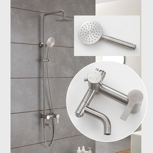 Quality Stainless Steel Brushed Nickel Outdoor Shower Faucets