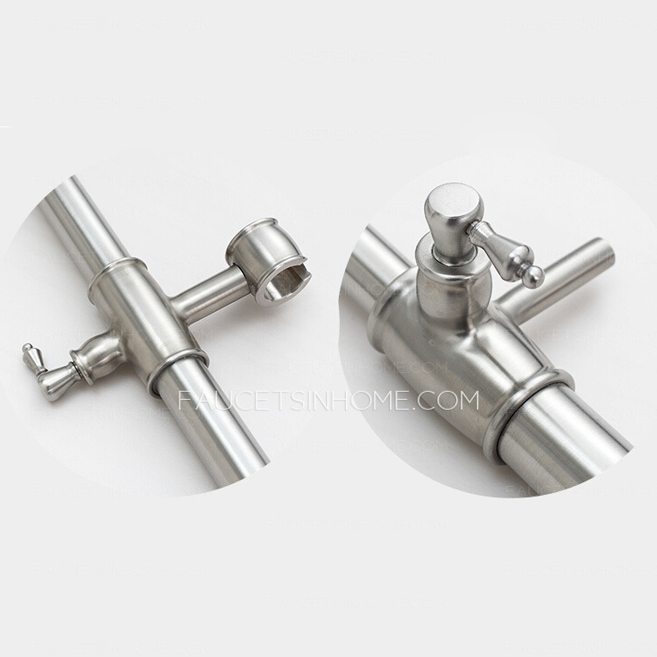Antique Stainless Steel Bathroom Outside Shower Faucets
