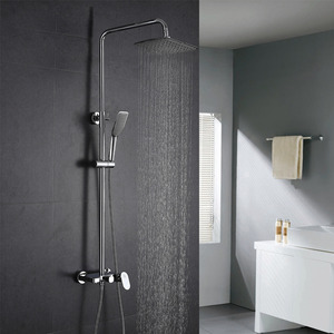 Quality Brass Square Top And Hand Shower Faucets