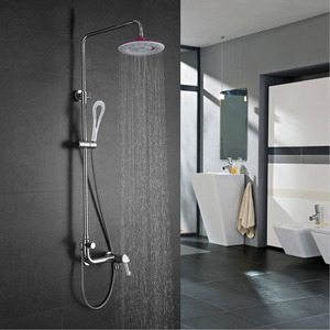 Fashion Brass Curved Bathroom Outside Shower Faucets
