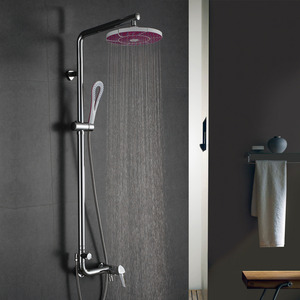 Designer Super Curved Brass Exposed Bathroom Shower Faucets