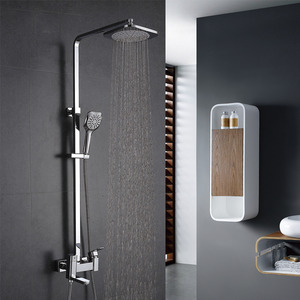 Modern Square Brass Rotate Bathroom Outdoor Shower Faucets System