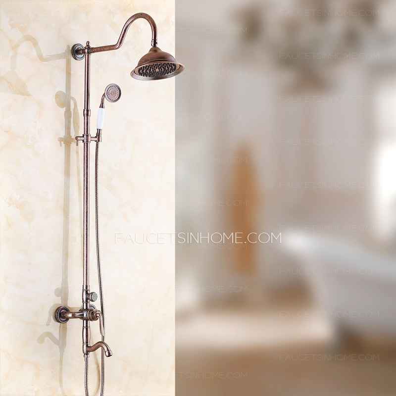 Discount Aluminum Red Wall Mounted Shower Faucet System