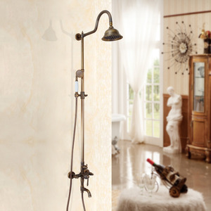 Quality Antique Bronze S-Shaped Bathroom Shower Faucets System