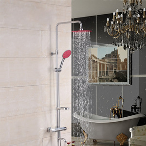 Fashion Thermostatic Pink Top Shower And Hand Shower Faucets