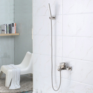 Simple Wall Mount Stainless Steel Bathroom Tub Shower Faucets