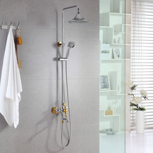 Chic Stainless Steel Gold Designer Shower Faucets System