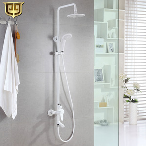 Good Quality White Painting Brass Bathroom Shower Faucets