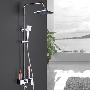 Designer Brass Square Shaped Shower Faucets System(ABS Top Shower)