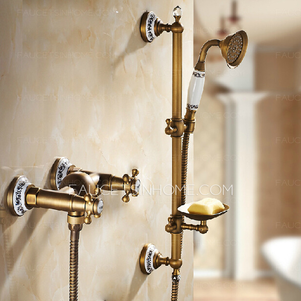 Hot Sale Ceramic 2 Handle Shower Faucet With Soap Dish