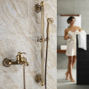 Antique Bronze Phone-shaped Hand Shower Faucets System