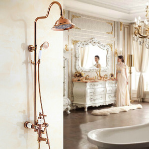 New Arrival Rose Gold Top And Shower Faucets System