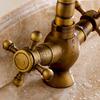 Vintage Antique Brass 2 Handle Kitchen Faucets Brushed