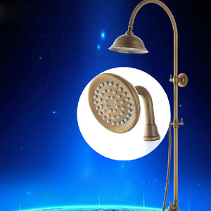Retro Antique Bronze High Bathroom Exposed Shower Faucets System