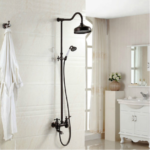 Luxury Cross Handle Oil Rubbed Bronze Outdoor Shower Faucets