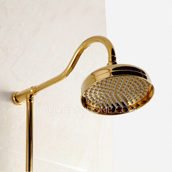 Gold Brass Bathroom Outside Shower Heads And Faucets